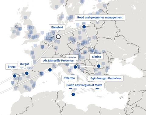 Mapa dos parceiros